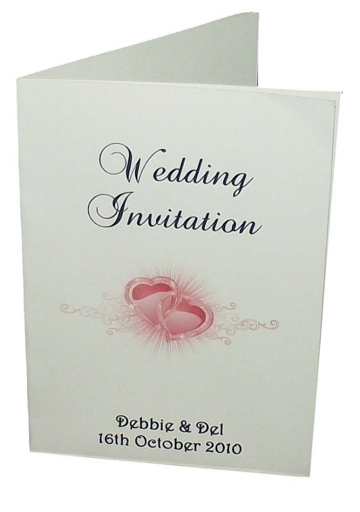 A6 Personalised Wedding//Evening Invitation Card /& Envelope 6 colours